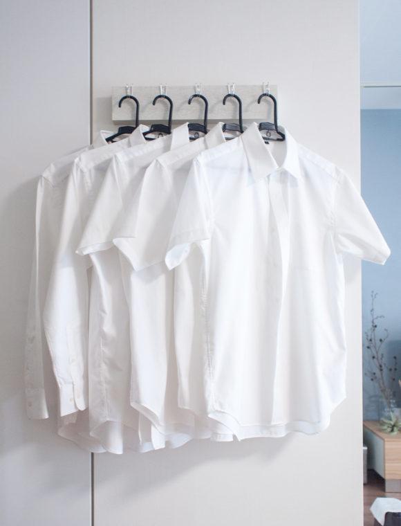 アイロン済みのワイシャツ