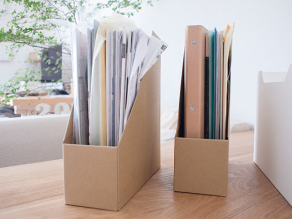 探しにくい書類の収納例