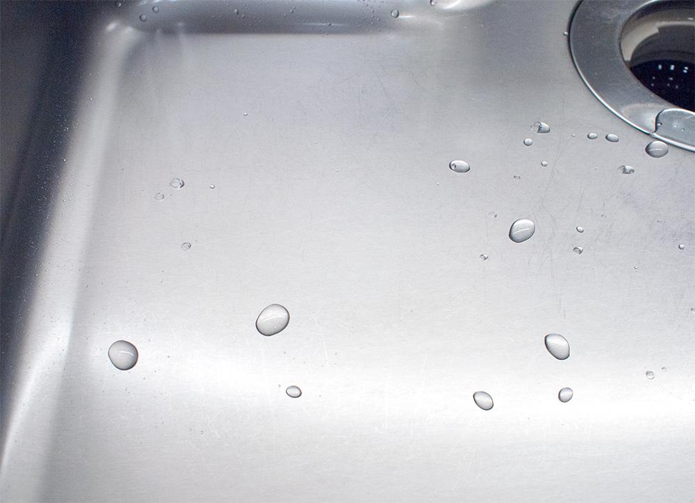 キッチンシンク 撥水効果