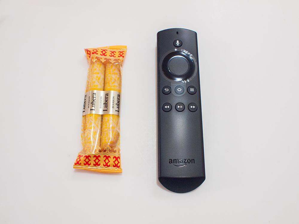 fire TV stickのリモコンサイズ