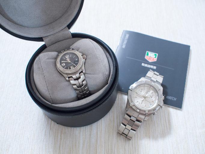 腕時計タグホイヤー2種の写真