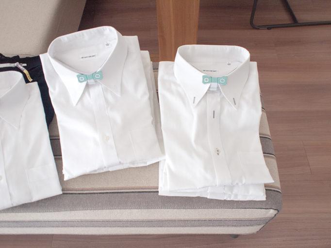 クリーニングで畳まれたワイシャツ