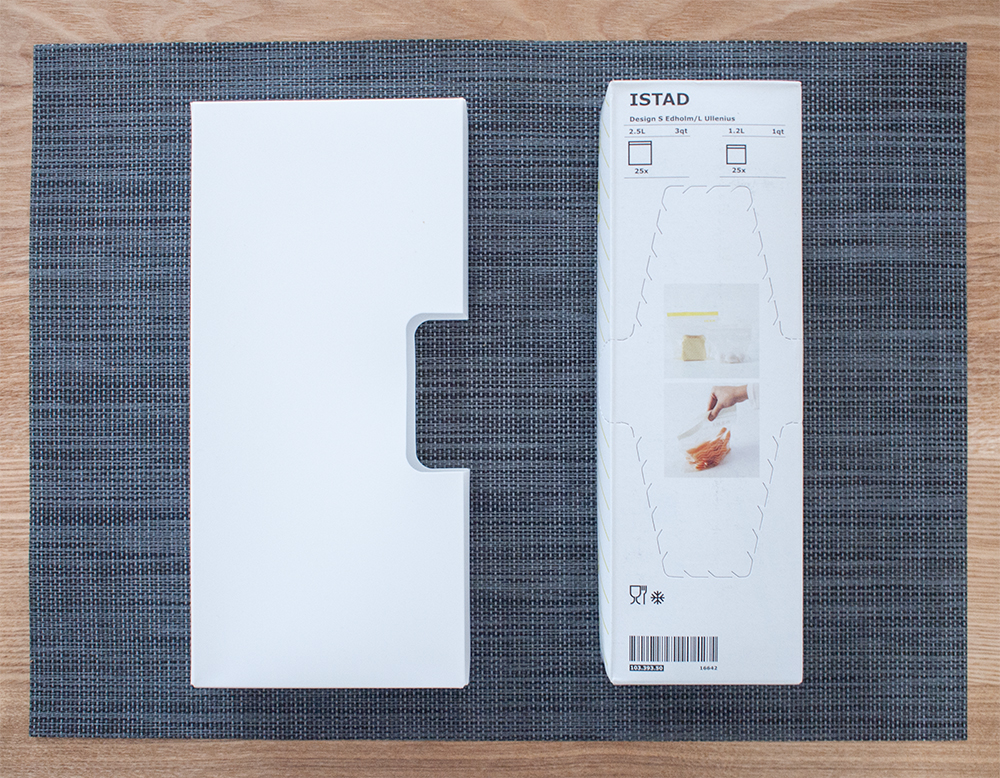セリアキッチン消耗品収納ケースとイケアのプラスチック袋