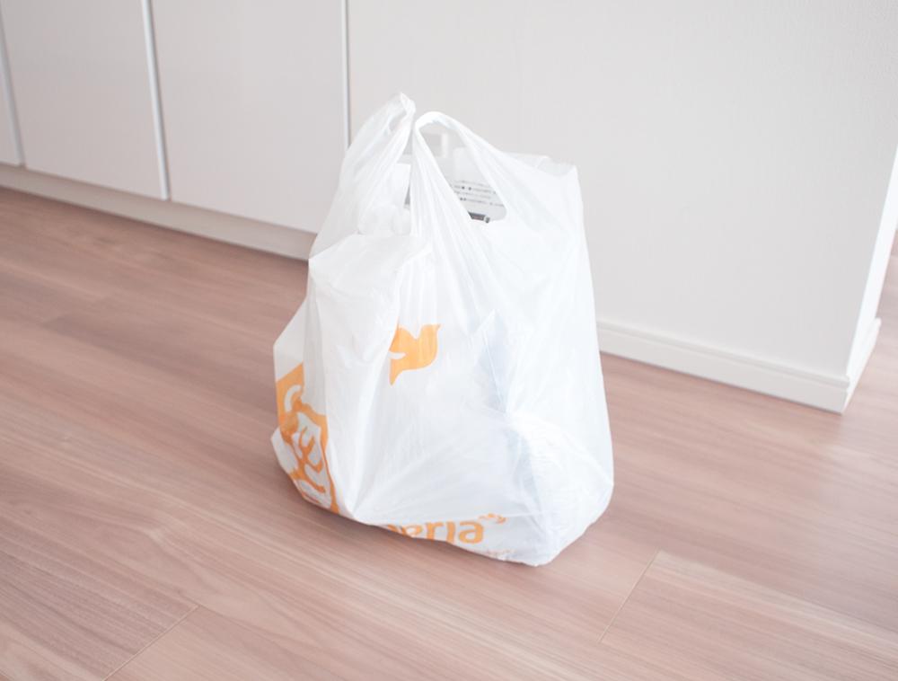 セリアの買い物袋