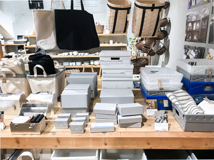 Found MUJIの企画展 北アメリカの箱