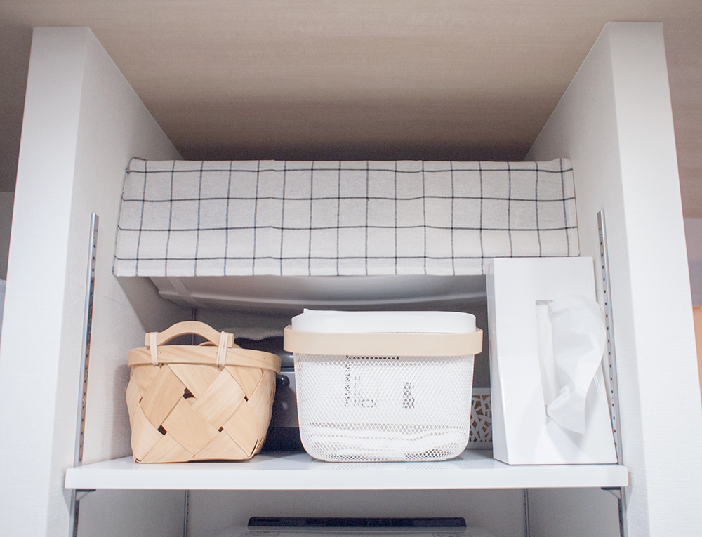 キッチン収納の目隠し