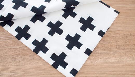 キッチン収納の目隠し続報:布をクロス柄に変えました