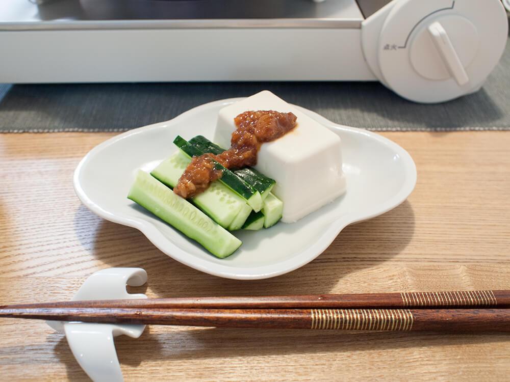 豆腐ときゅうり