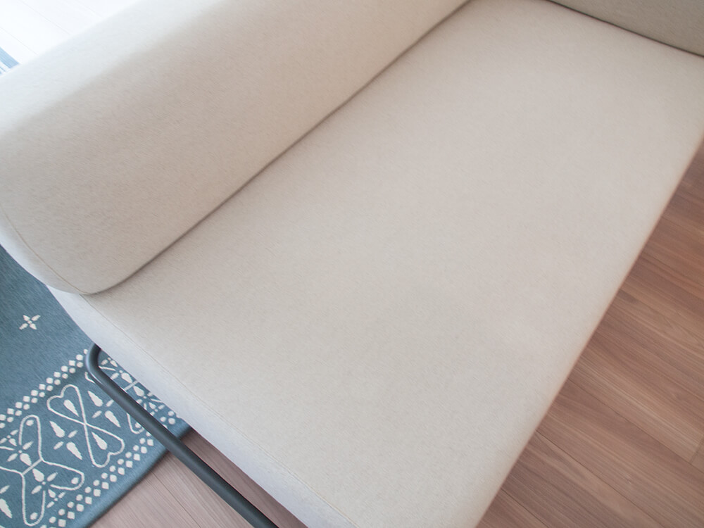 シミが落ちたソファーカバー