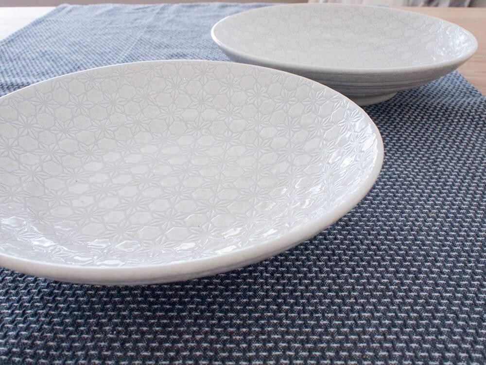 新しく買った白い和食器