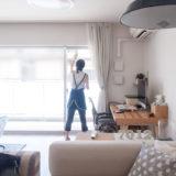 カジタクの家事代行 窓拭きをしてるところ