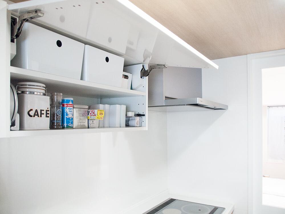 キッチンの使える吊り戸棚