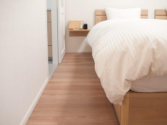 6畳にシングルベッドを2つ置いた時のベッド脇の広さ