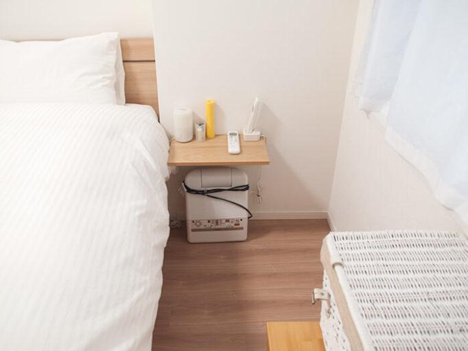 6畳にシングルベッドを2つ置いた時のベッド脇の広さ2