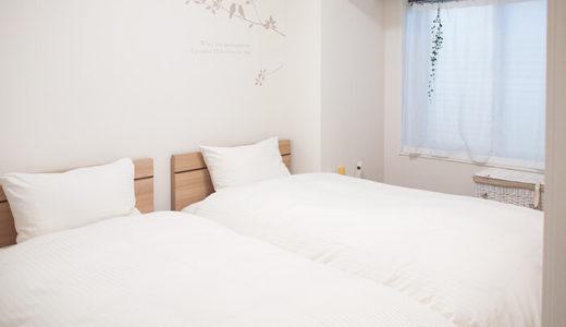 6畳にシングルベッド2台の寝室。狭い?通路は?レイアウトの注意点