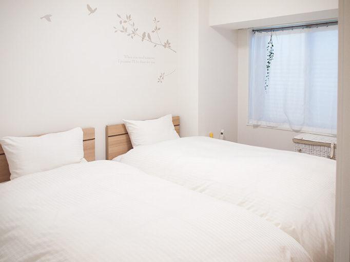 6畳にシングルベッド2台