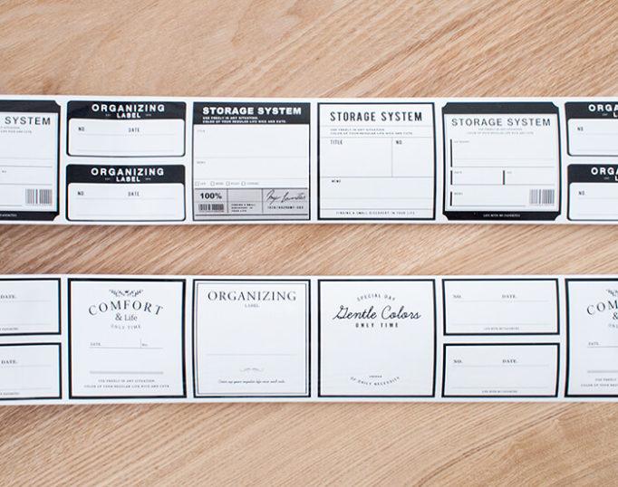 キャンドゥの書いて消せるラベルテープのデザイン一覧