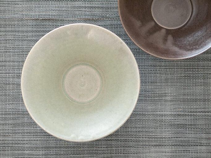 ネギシ製陶の6寸鉢 俯瞰から見たところ