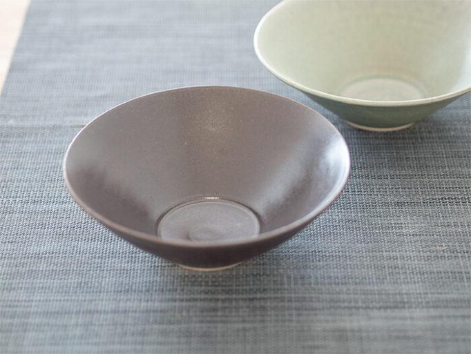 ネギシ製陶の6寸鉢 ブラウン