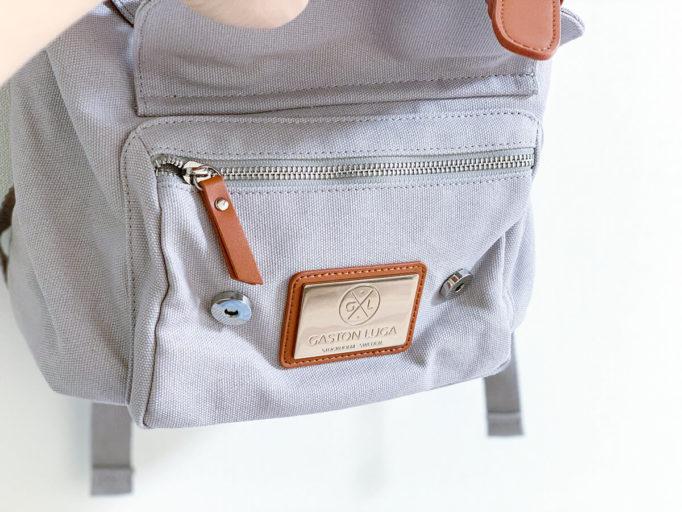 ガストンルーガのバックパックのポケット拡大
