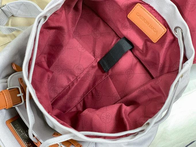 ガストンルーガのバックパック内ポケット
