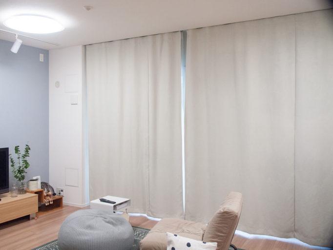 洗い終わったカーテン