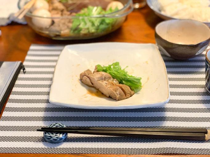山椒の効いた鶏肉の蒸し料理