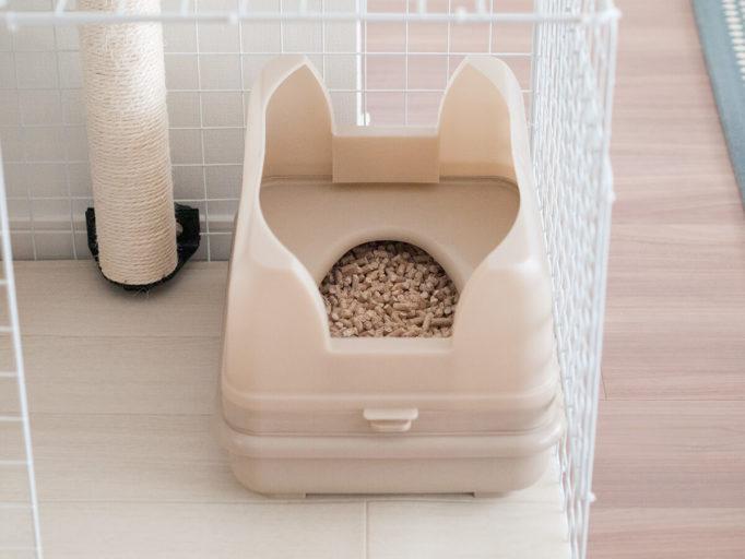 おまる式猫トイレのキャットワレ