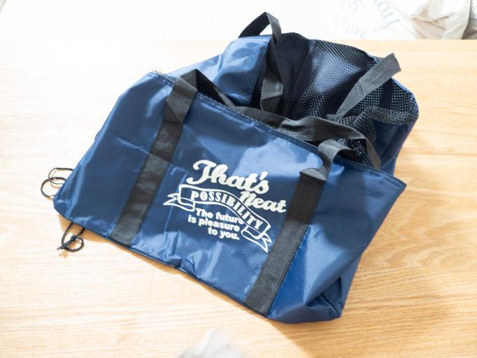 3コインズの買い物バッグのデザイン