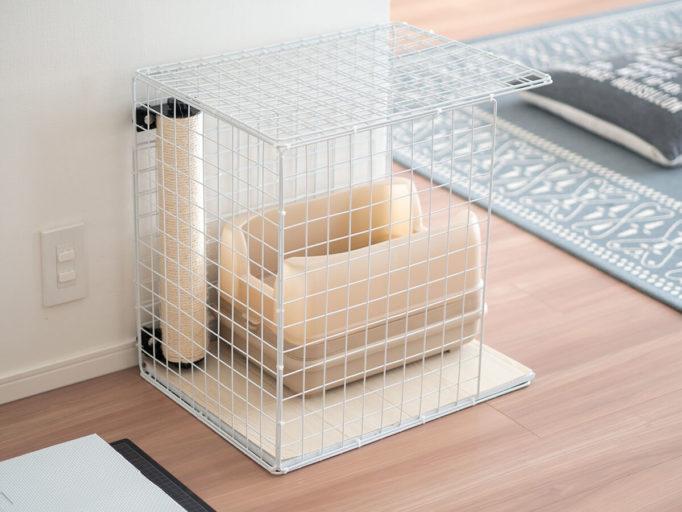 100均アイテムで作った猫のトイレカバー