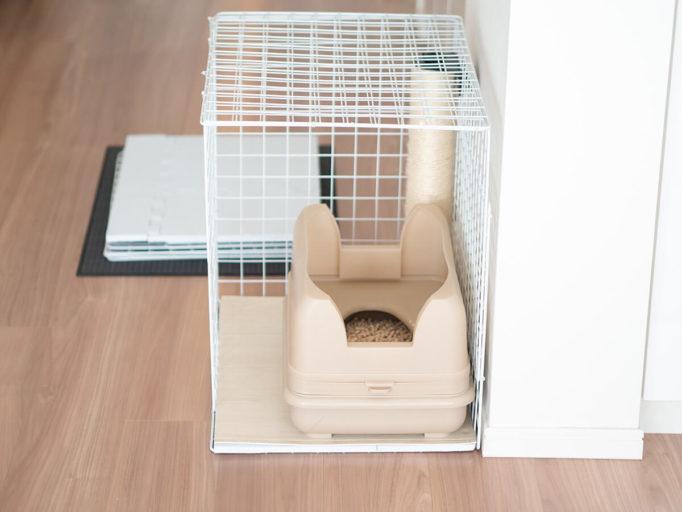 100均アイテムで作った猫トイレカバー
