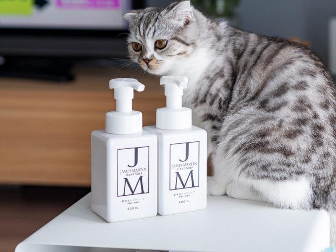 ジェームズマーチンのハンドソープと猫
