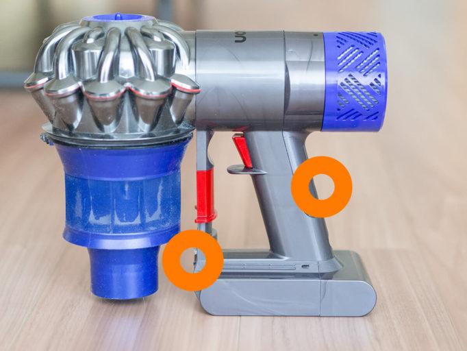 ダイソンバッテリー交換方法
