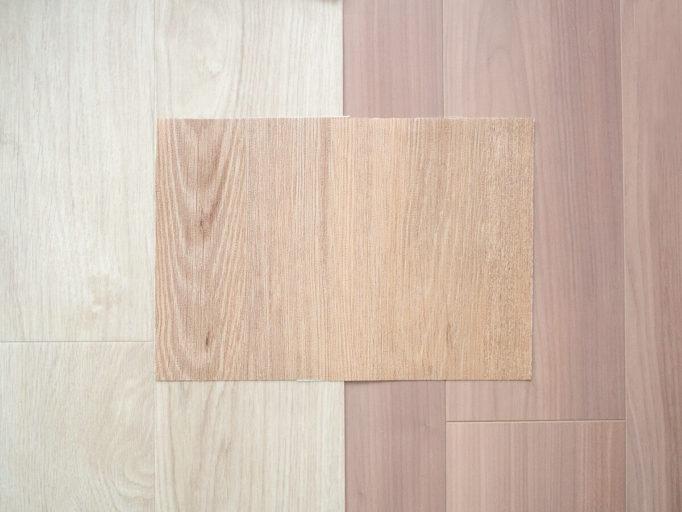 床タイルの色合わせ