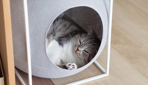 【猫とインテリア】おしゃれ猫ハウスは猫も喜ぶデザインでした。