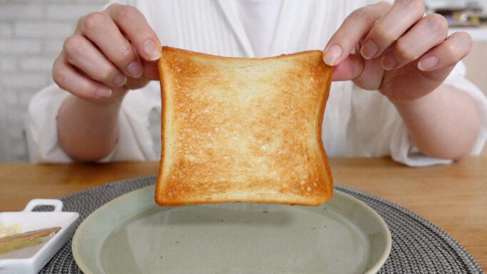 アラジンのトースターで焼いた食パン