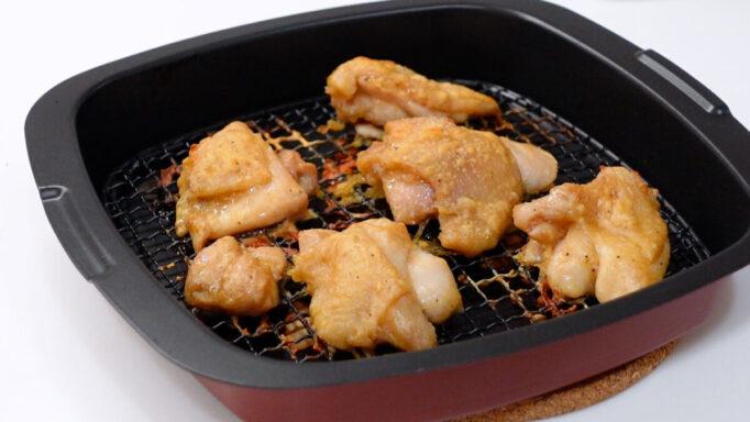 アラジンのトースターで焼いたノンフライ唐揚げ