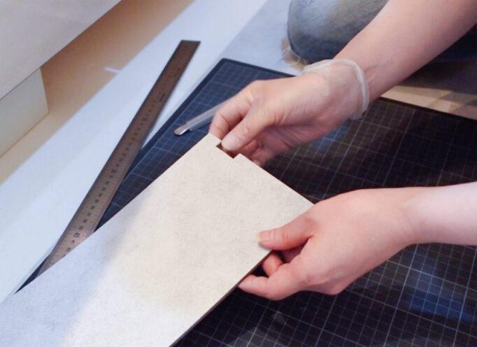 フロアタイル壁際凹凸の処理